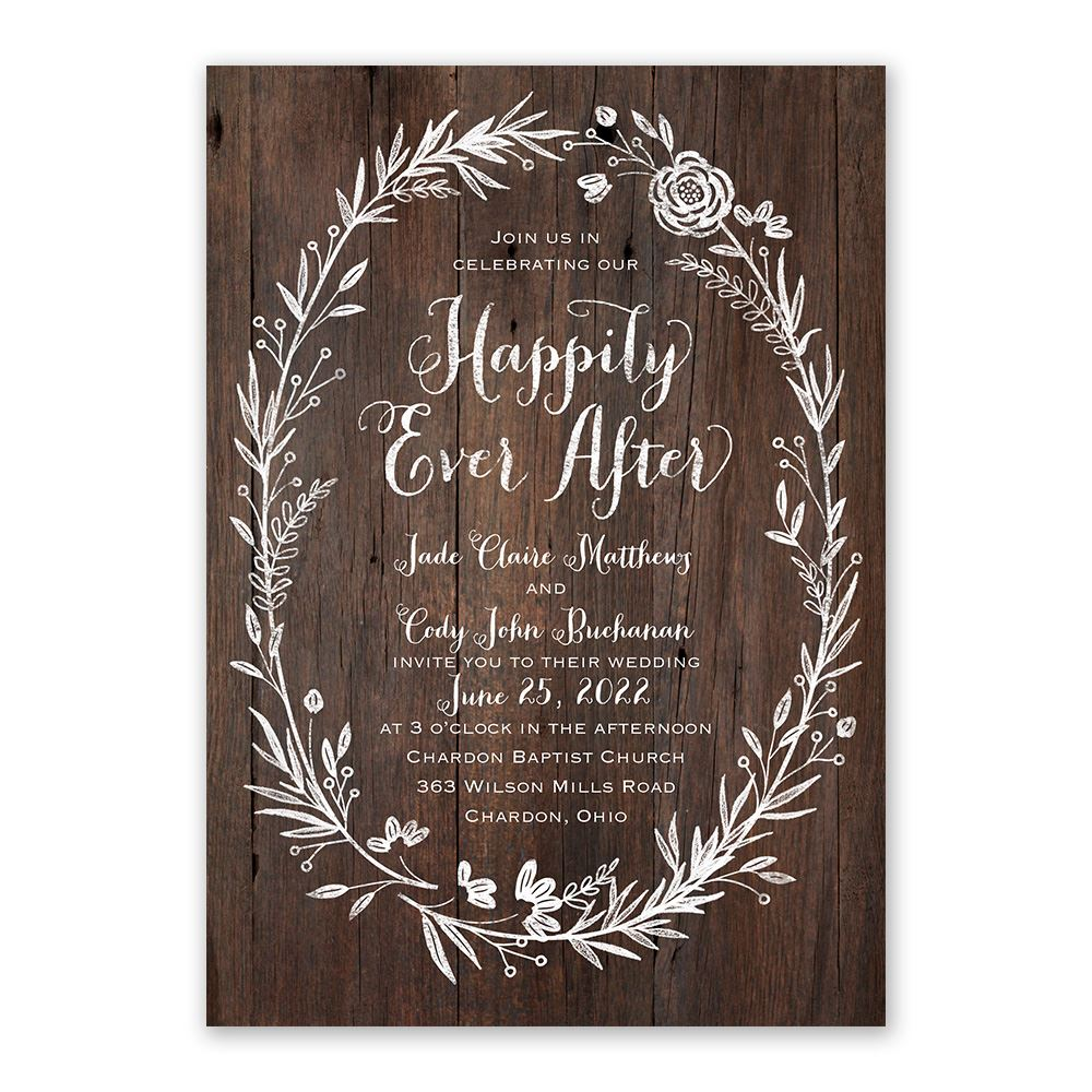 Cost Of Mailing Wedding Invitations: Ever After Invitation With Free Response Postcard