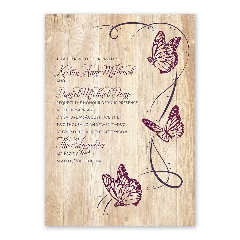 Butterfly Swirl Invitation Ann S Bridal Bargains