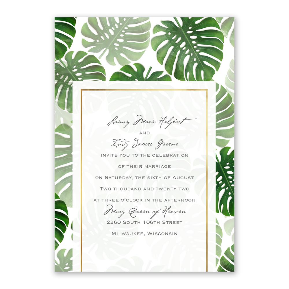 pretty palms invitation ann s bridal bargains