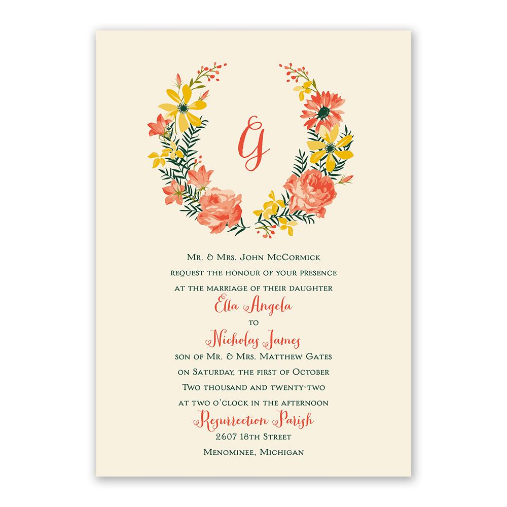 Watercolor Floral Invitation With Free Response Postcard