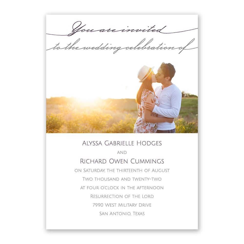 Simple Elegance Invitation with Free Response Postcard | Ann\'s ...