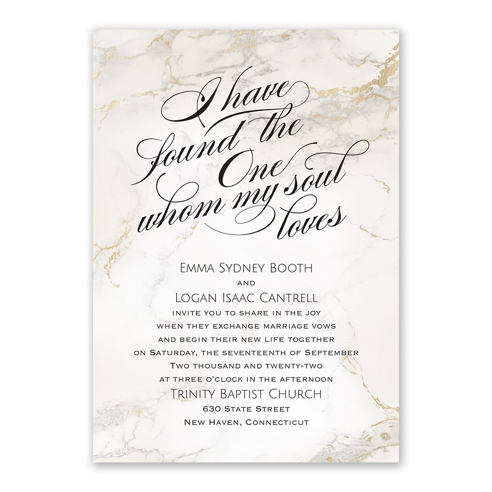 Whom My Soul Loves Invitation with Free Response Postcard | Ann\'s ...