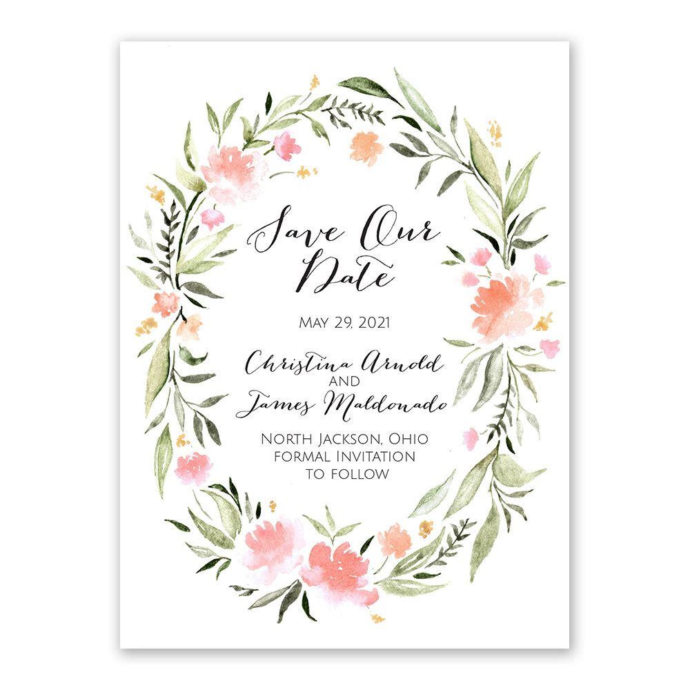 Save The Date Wedding Floral Ornament Wedding Floral: Bohemian Floral Save The Date
