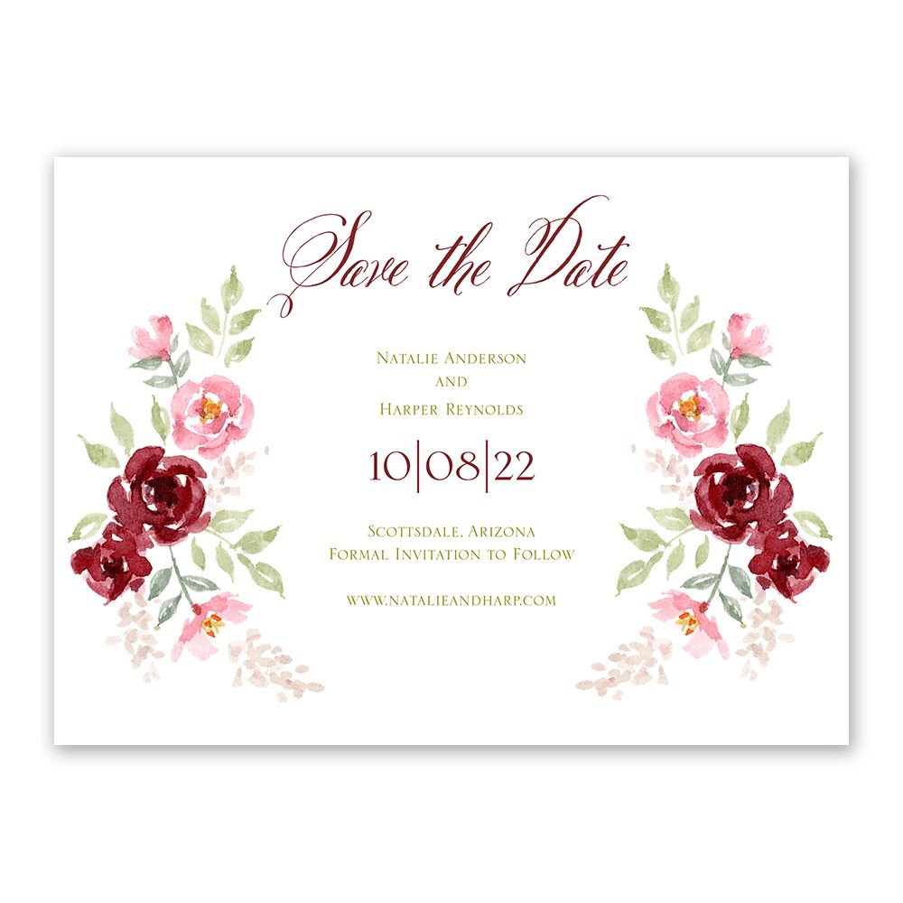 Floral Frame Save The Date Ann S Bridal Bargains