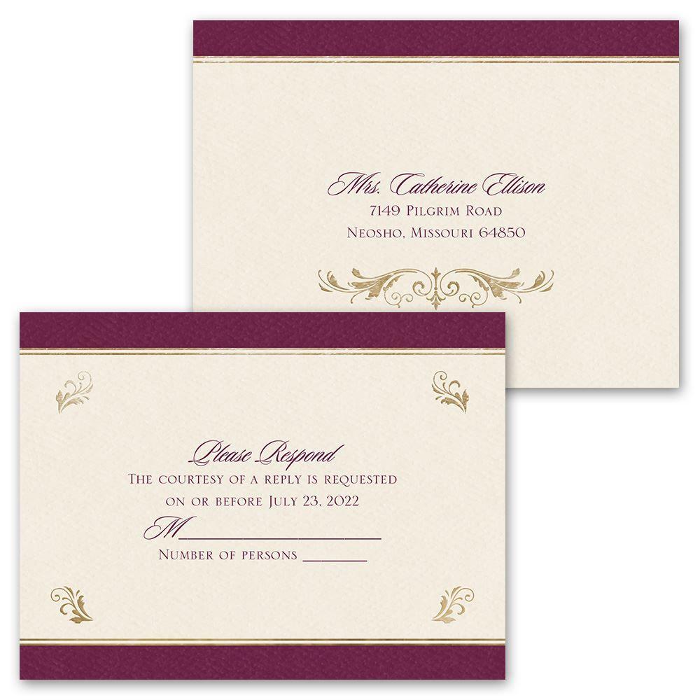 royal monogram invitation ann s bridal bargains
