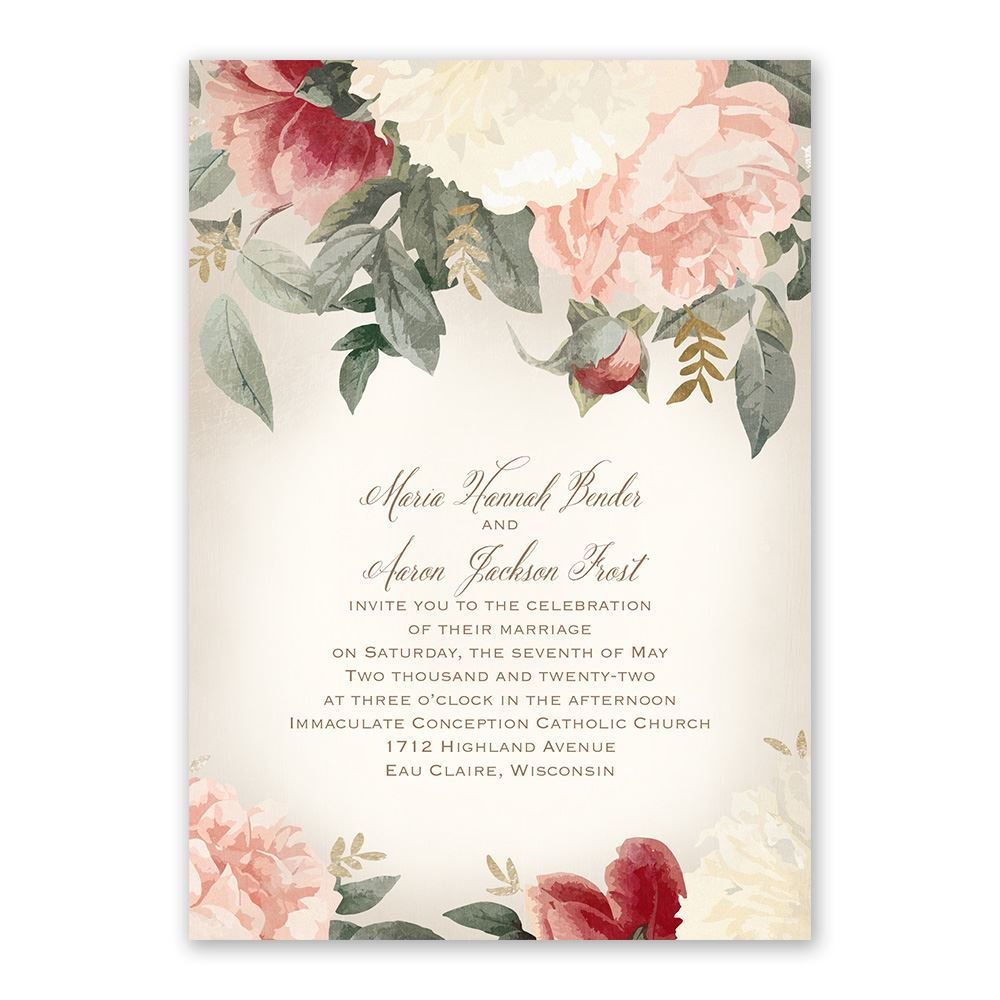 Blush Floral Invitation Ann S Bridal Bargains