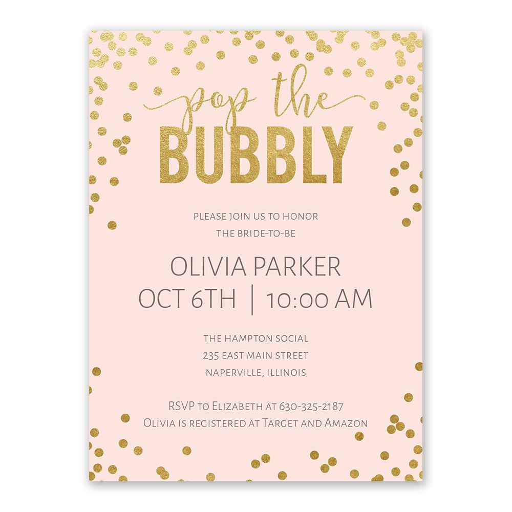 Bubbly Bridal Shower Invitation Anns Bridal Bargains
