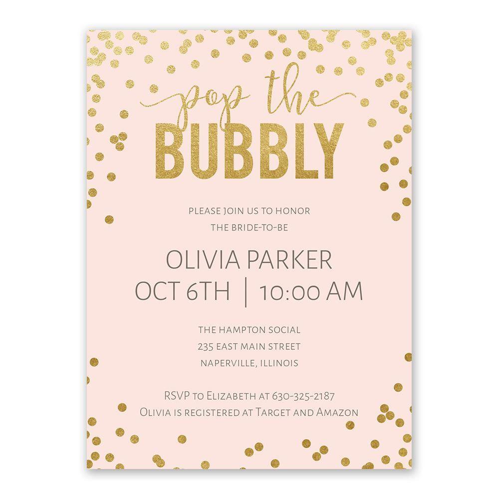 Invitations To A Wedding: Bubbly Bridal Shower Invitation