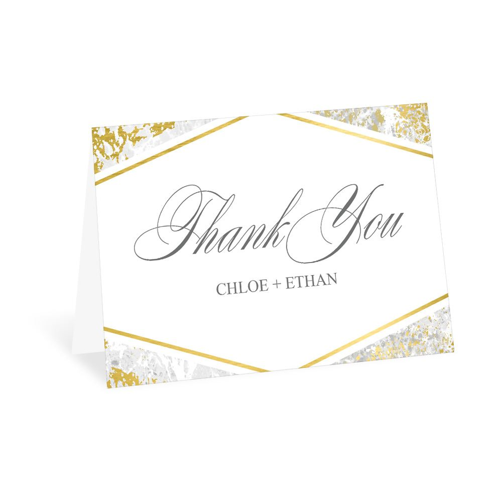 17e2d0f835354 Gold Marble Thank You Card | Ann's Bridal Bargains