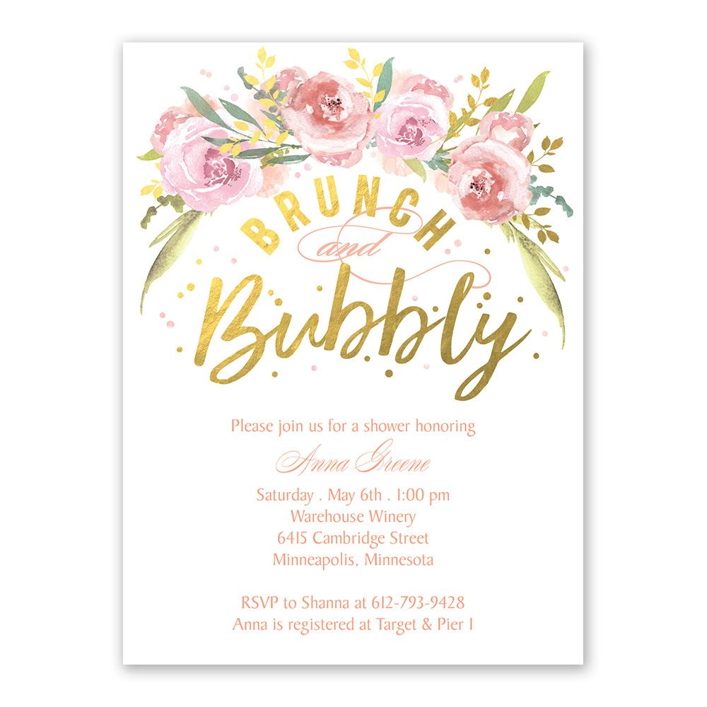f2e4da243a65 Brunch and Bubbly Bridal Shower Invitation