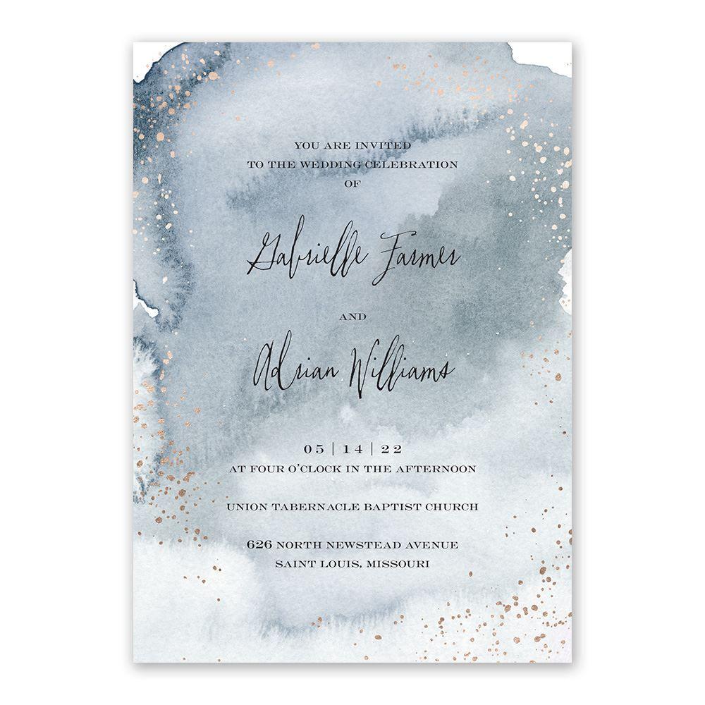 Watercolor Burst Invitation With Free Response Postcard