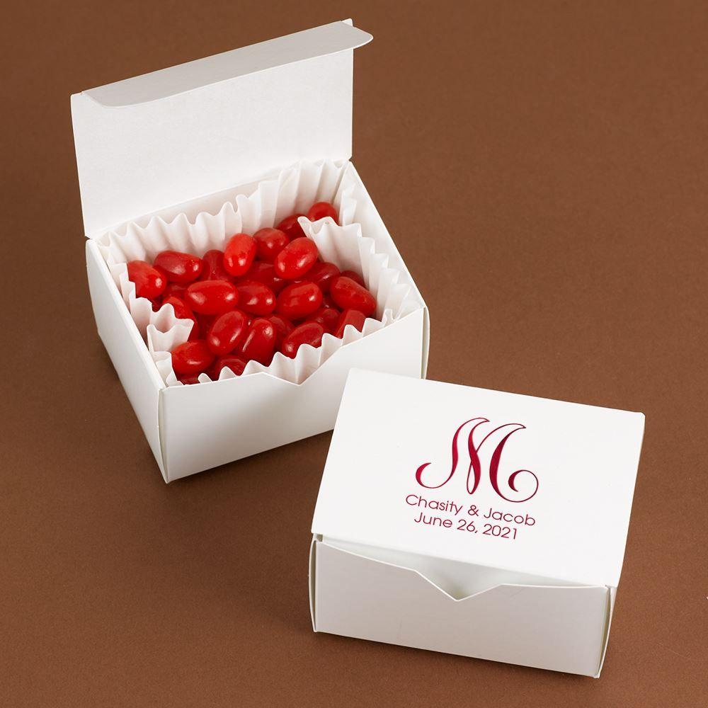 Black Treat Favor Boxes : Small white treat boxes ann s bridal bargains