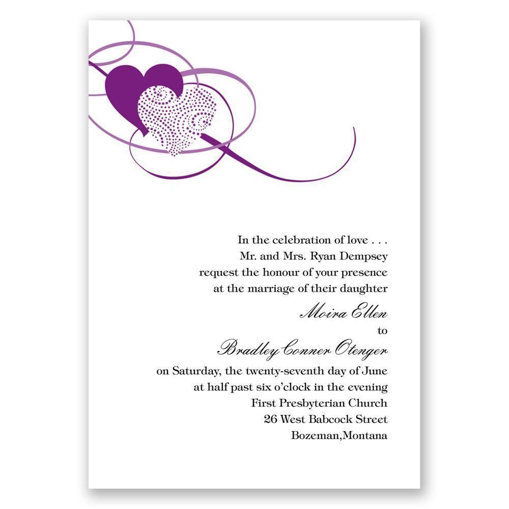 Close at heart invitation with free response card anns bridal close at heart grapevine invitation with free response card stopboris Image collections