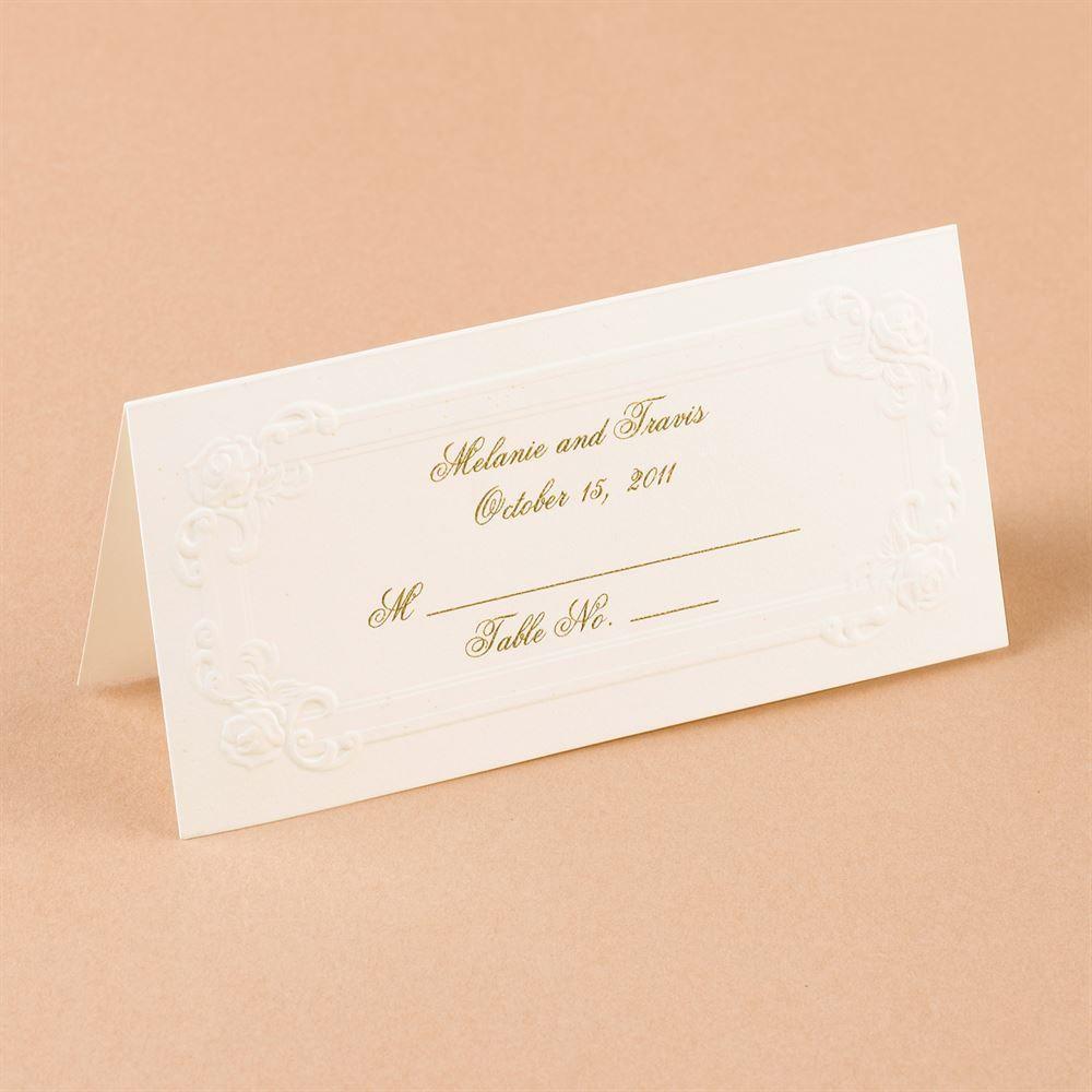Blind Embossed Place Card Ann S Bridal Bargains