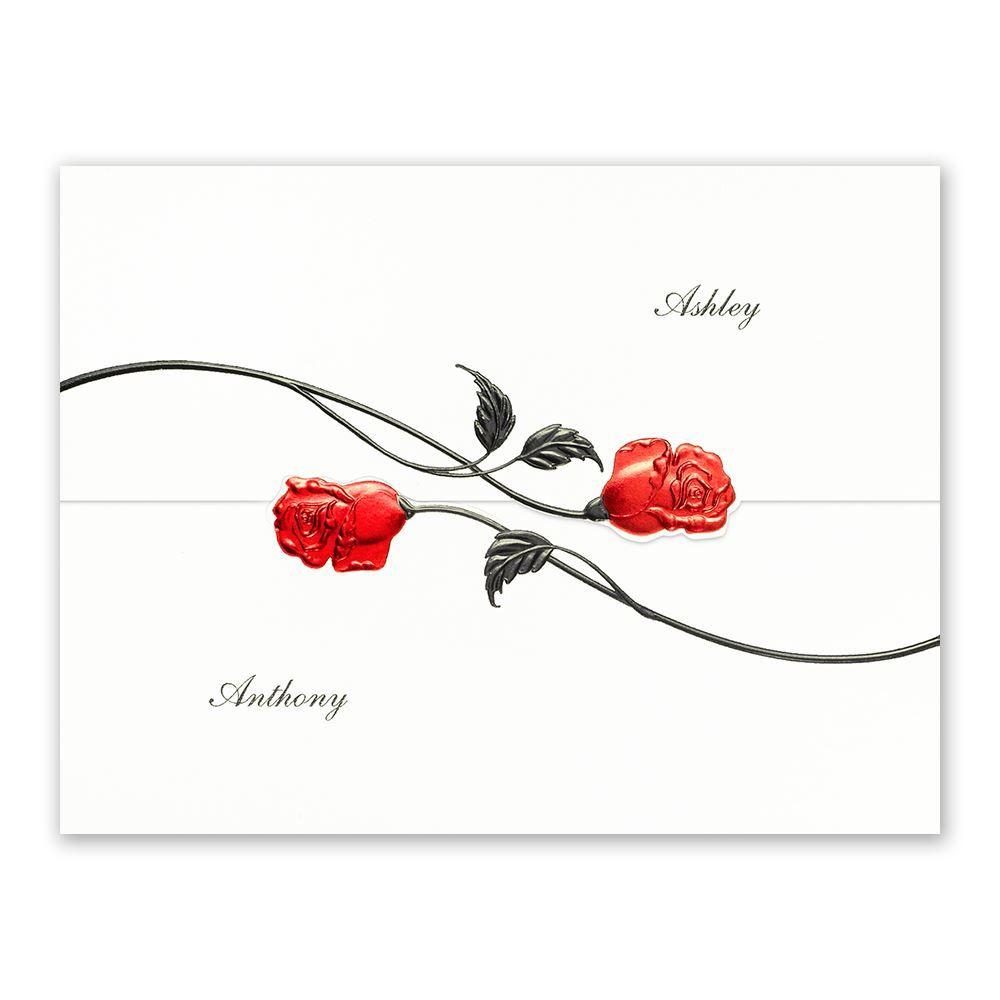 Red Roses Invitation | Ann's Bridal Bargains