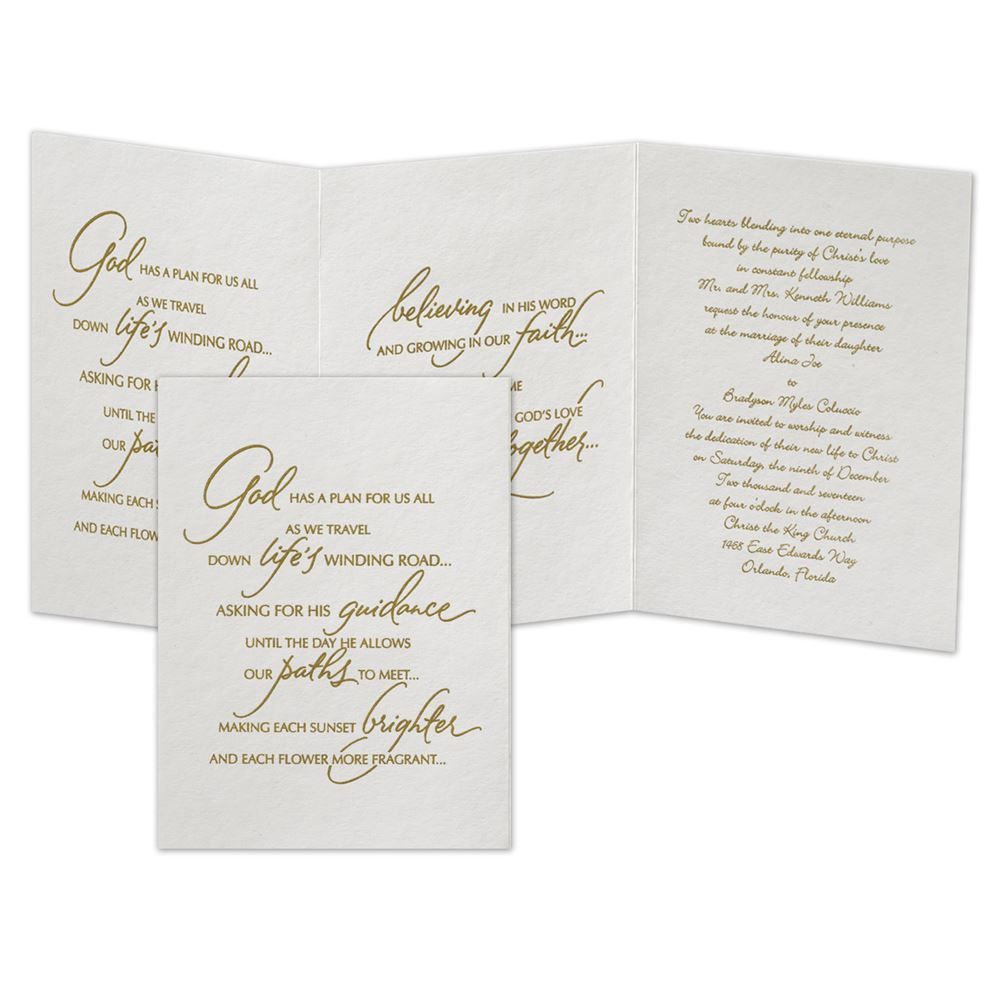 A Spiritual Path Invitation | Ann\'s Bridal Bargains