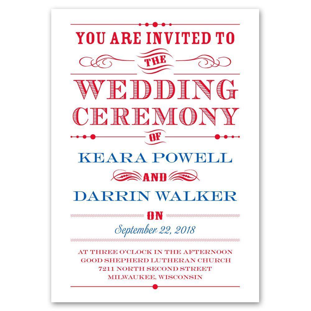 Typography On White Invitation