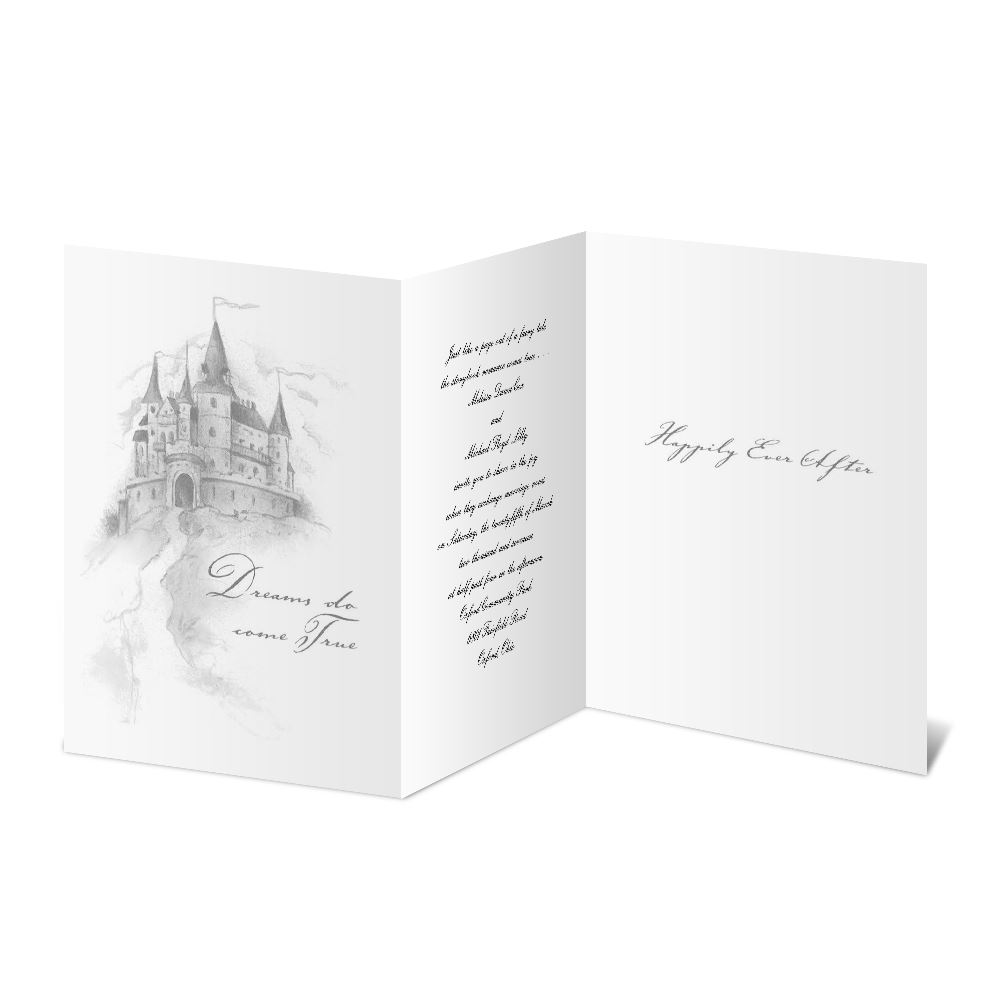 happily ever after tri fold invitation ann s bridal bargains