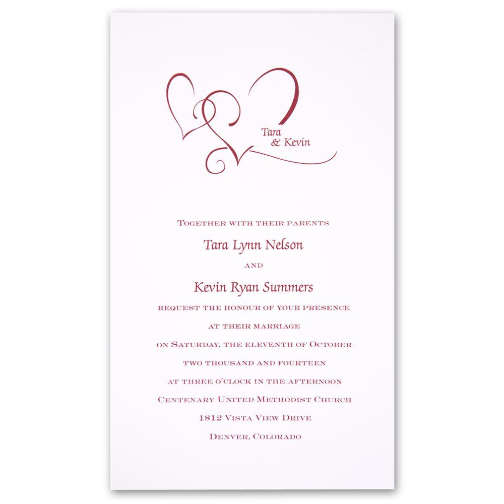 With Love Invitation | Ann\'s Bridal Bargains