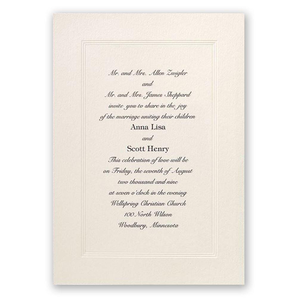 Classic Tradition Invitation | Ann\'s Bridal Bargains