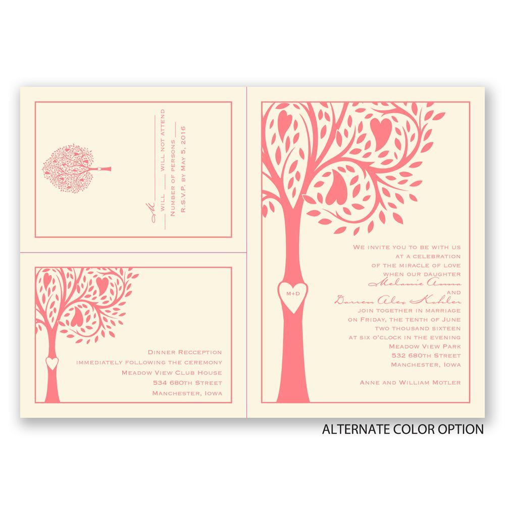 Tree Love Separate And Send Invitation Ann S Bridal Bargains