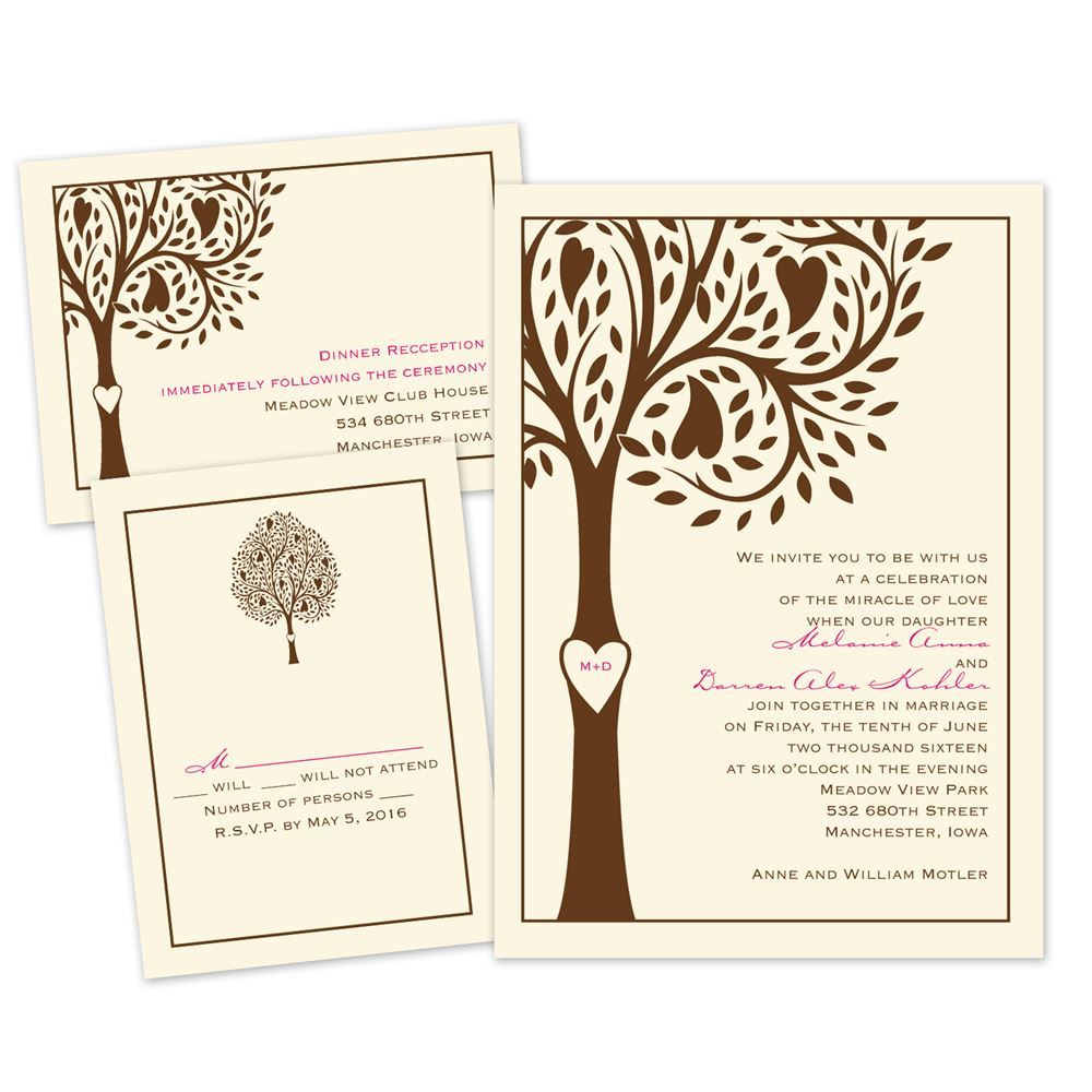 Tree Wedding Invitations: Tree Love Separate And Send Invitation