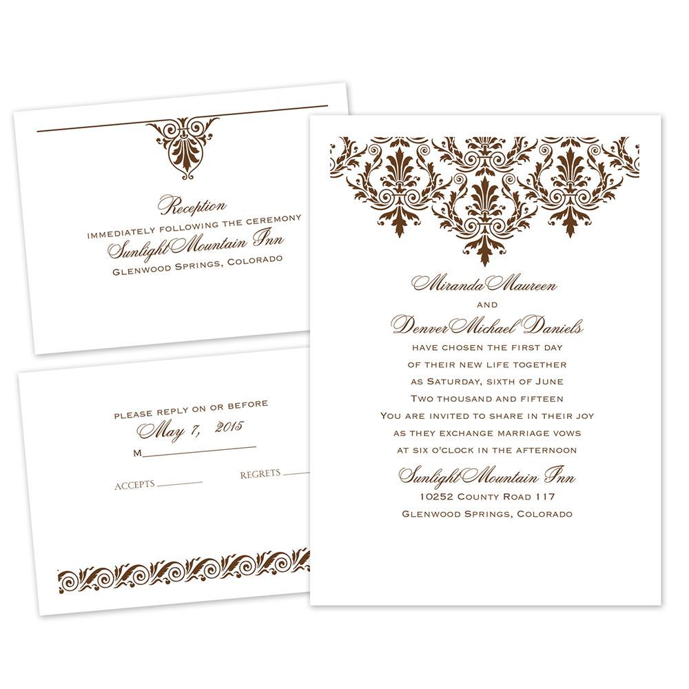 high style separate and send invitation ann39s bridal With wedding invitations separate and send
