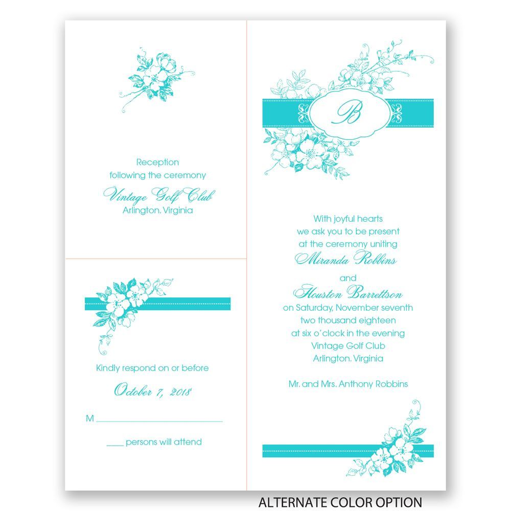 Wedding Gift Separated From Card : ... Wedding Invitations Cherry BlossomsSeparate and Send Invitation