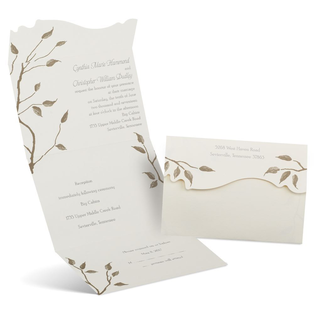 Seal And Send Wedding Invitations.Autumn Seal And Send Invitation