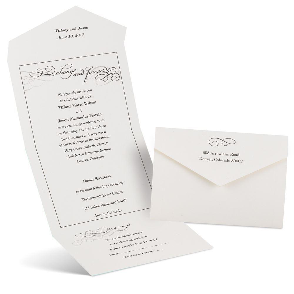 Wedding Invitations Old Fashioned: Old Fashioned Style Seal And Send Invitation