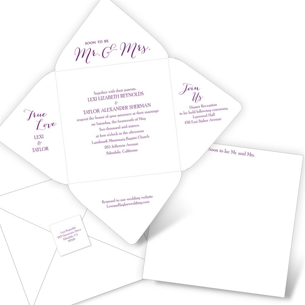 Mr. & Mrs. Seal and Send Invitation | Ann\'s Bridal Bargains