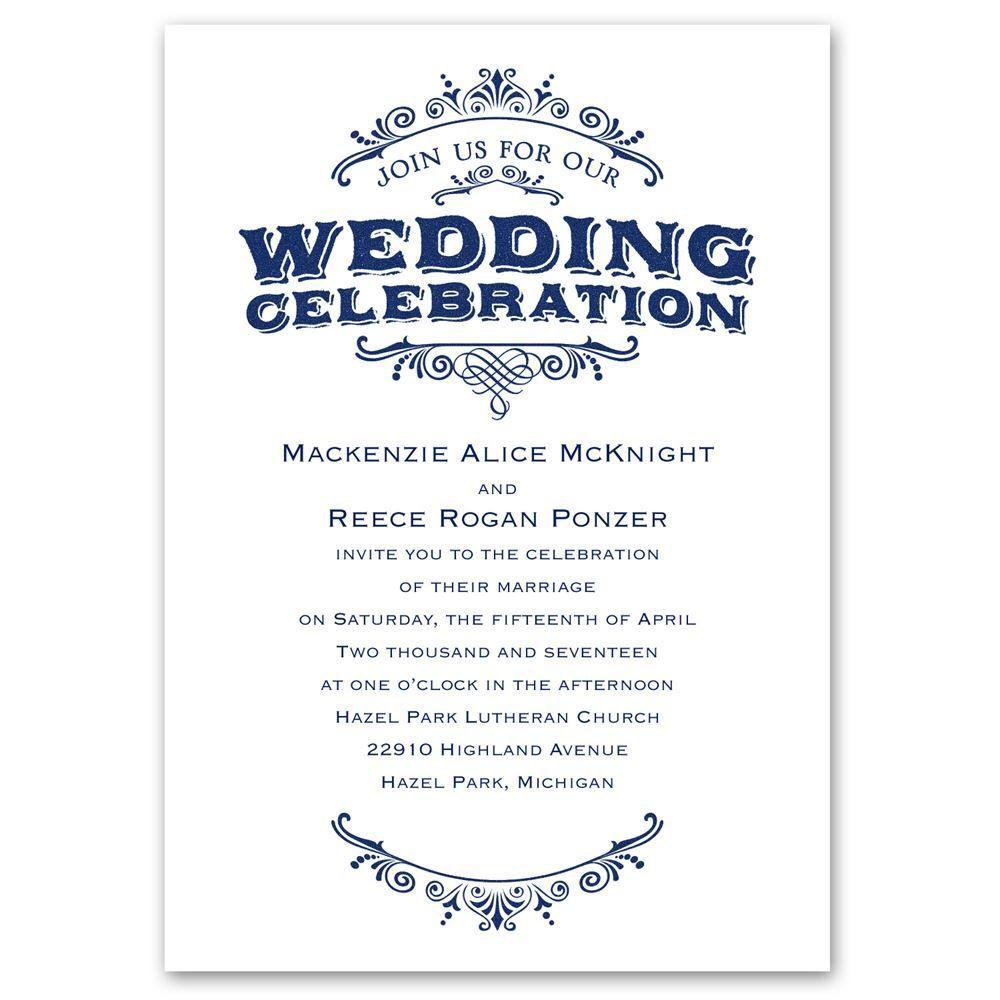 vintage allure invitation ann39s bridal bargains With classic allure wedding invitations