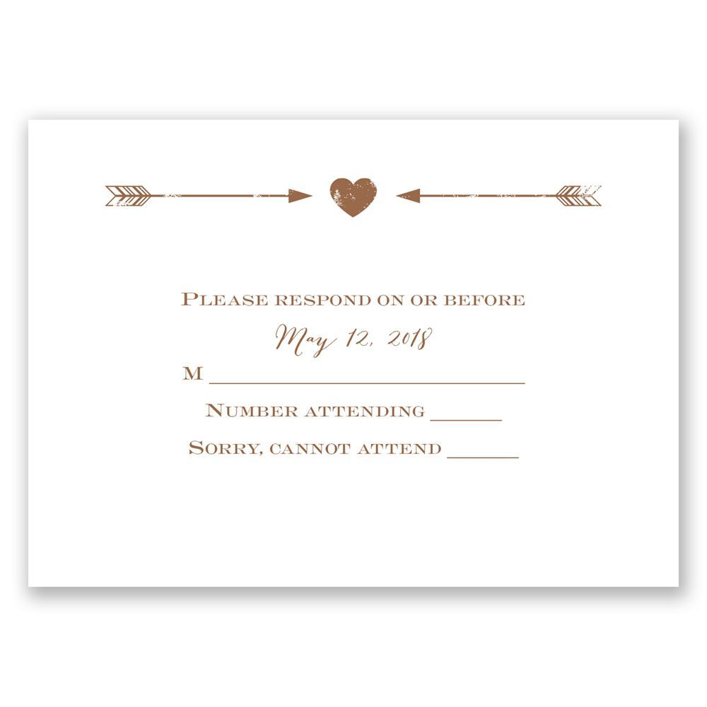 Wedding Invitation Response Cards: Rustic Arrow Response Card