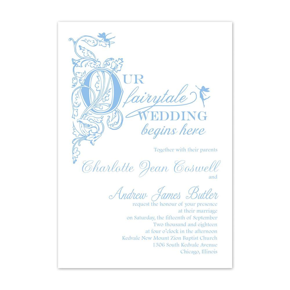 Our Fairytale Invitation Ann S Bridal Bargains
