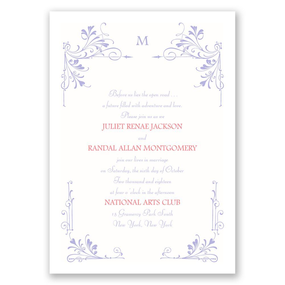 Fairytale Border Invitation Anns Bridal Bargains
