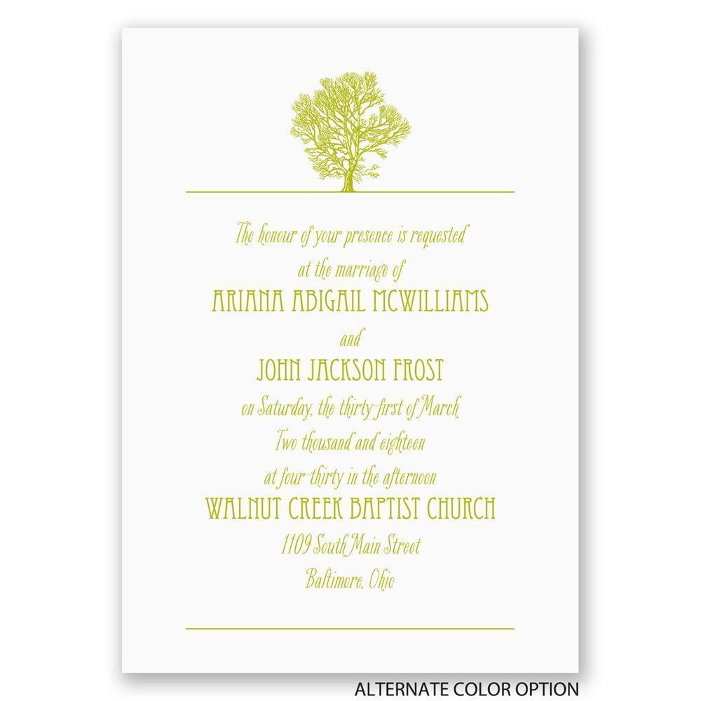 Oak Tree Invitation | Ann\'s Bridal Bargains