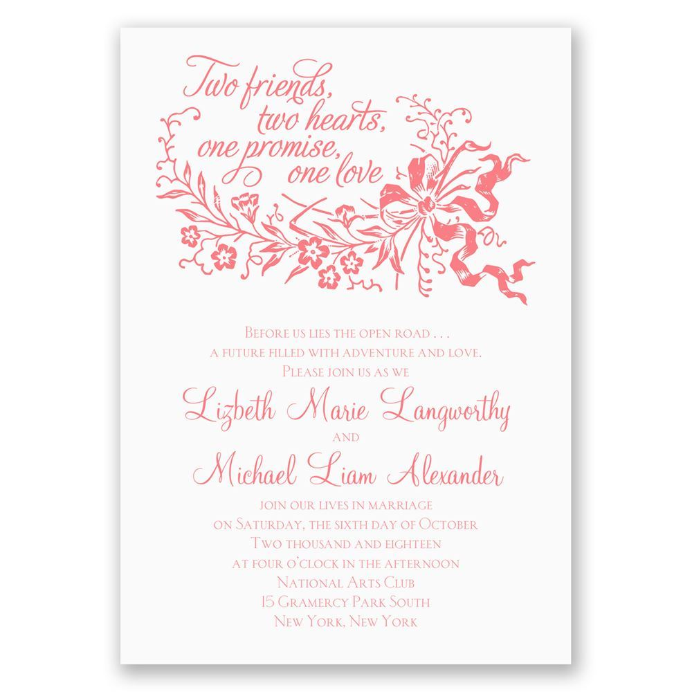 Best Friends Invitation | Ann\'s Bridal Bargains