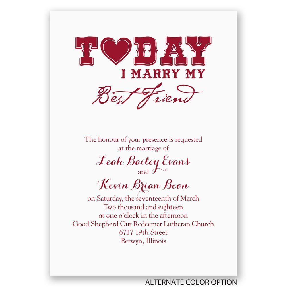 Today I Marry Invitation