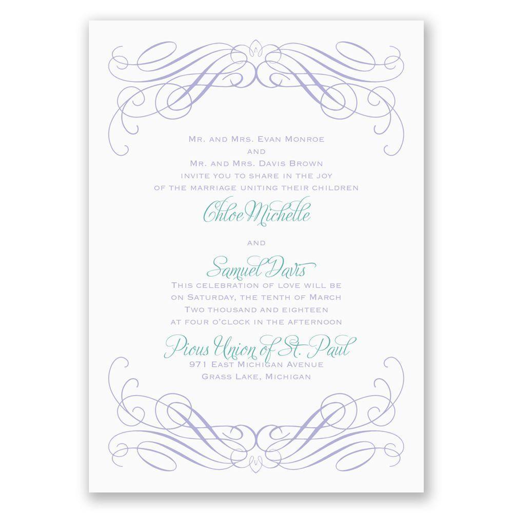 Sweeping Romance Invitation | Ann\'s Bridal Bargains