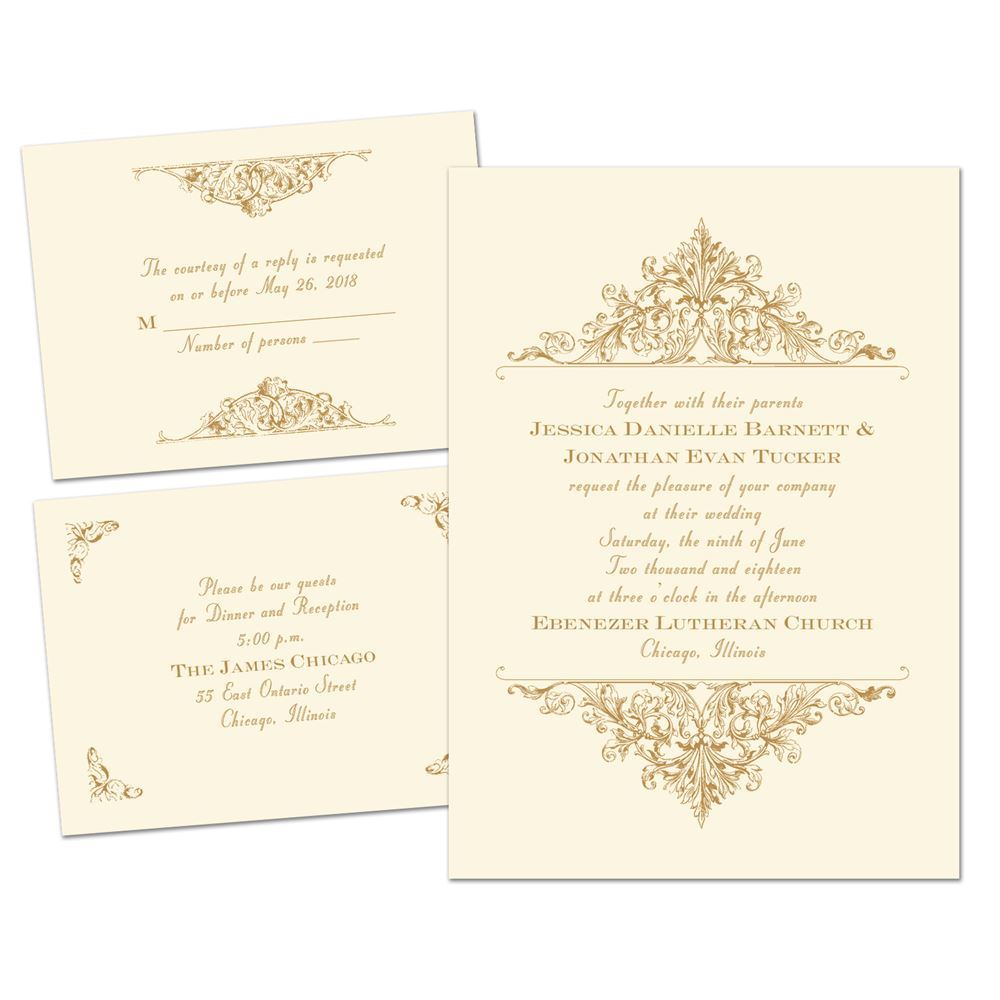 Vintage Victorian Separate and Send Invitation | Ann\'s Bridal Bargains