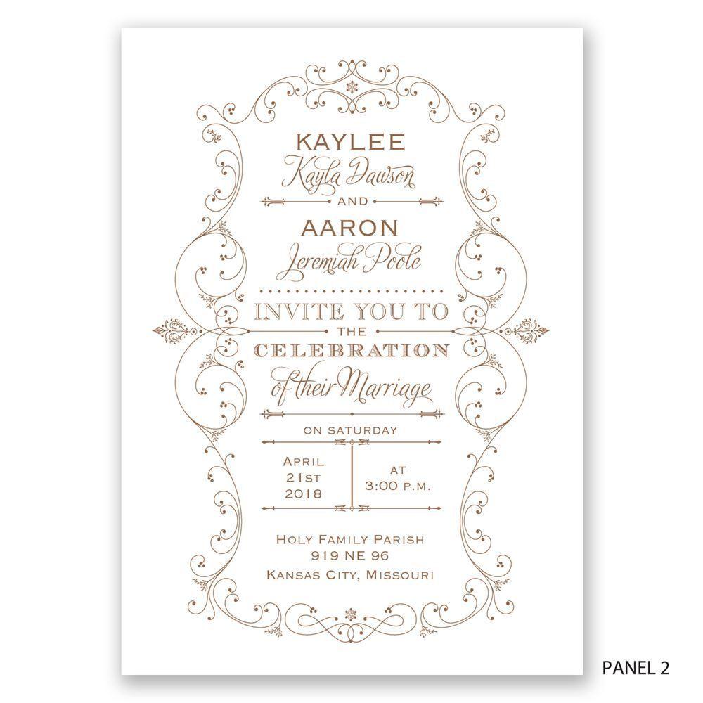 Victorian Filigree Invitation   Ann\'s Bridal Bargains