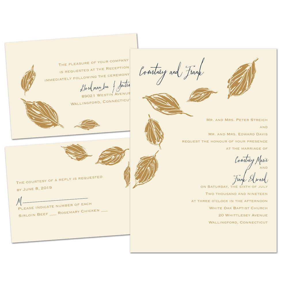 Lovely Leaves Separate And Send Invitation Ann S Bridal