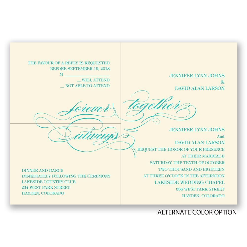 Forever & Always Separate and Send Invitation | Ann\'s Bridal Bargains