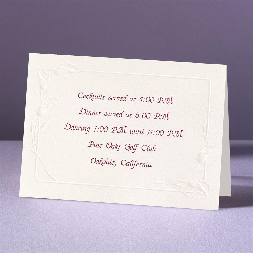 Crazy For Callas Reception Card