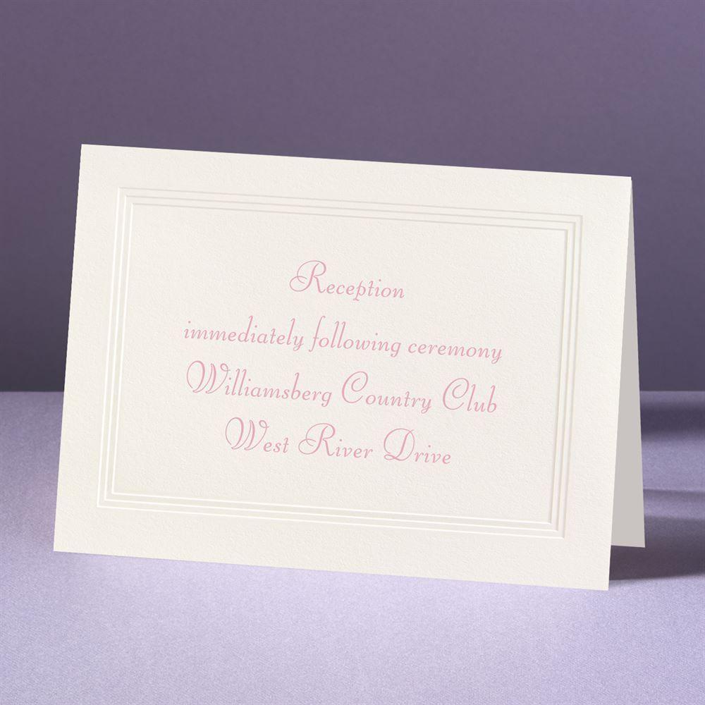 Classic Tradition Reception Card Ann S Bridal Bargains