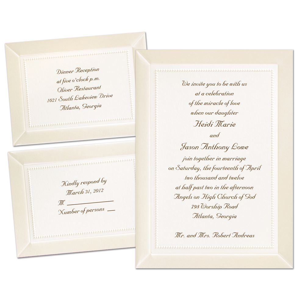 Ceremony And Reception Wedding Invitation Wording: Display Of Affection Separate And Send Invitation