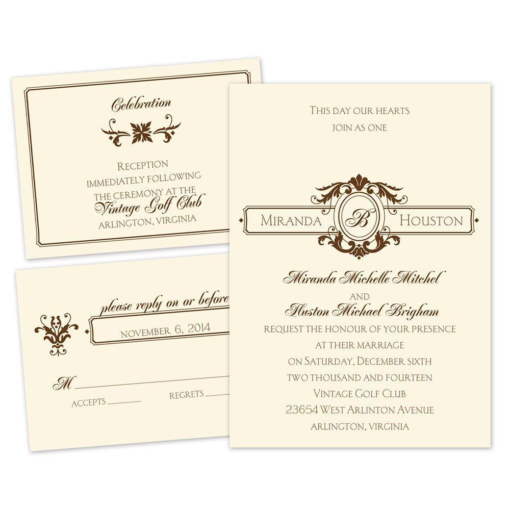 Wedding Invitations Details: Striking Details Separate And Send Invitation