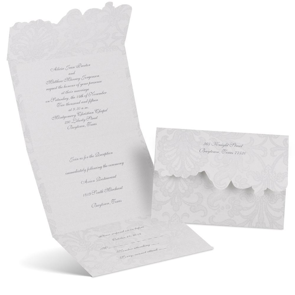 Cost Of Mailing Wedding Invitations: Vintage Appeal Seal And Send Invitation