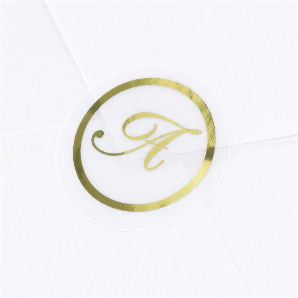 Gold Foil Alphabet Seal Ann S Bridal Bargains