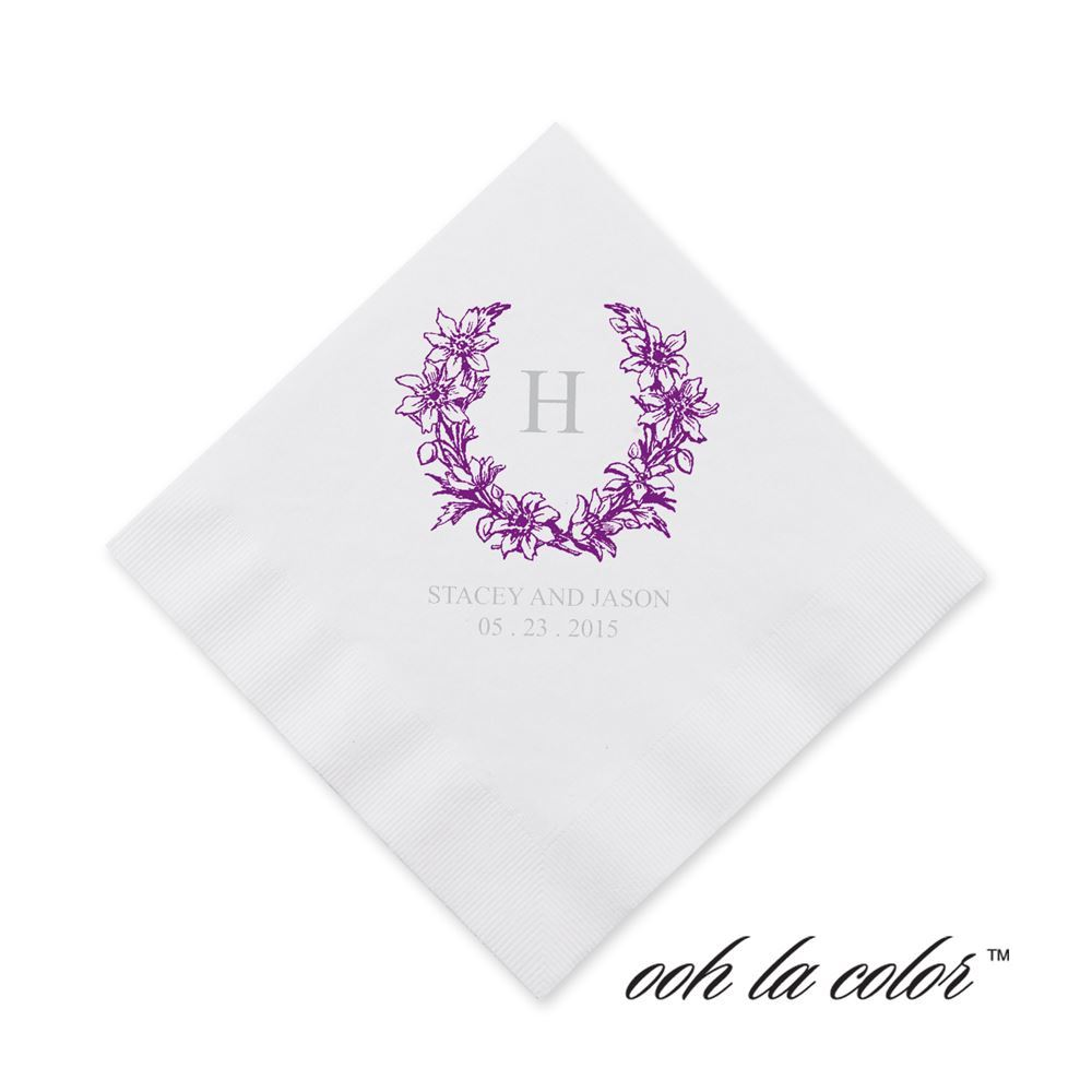 Wedding Wedding Cocktail Napkins wedding cocktail napkins anns bridal bargains floral crest napkin